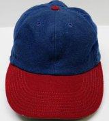 マクレガーmcgregorアメリカ製ウールキャップ60'sビンテージ紺系x赤系オールド&レトロ